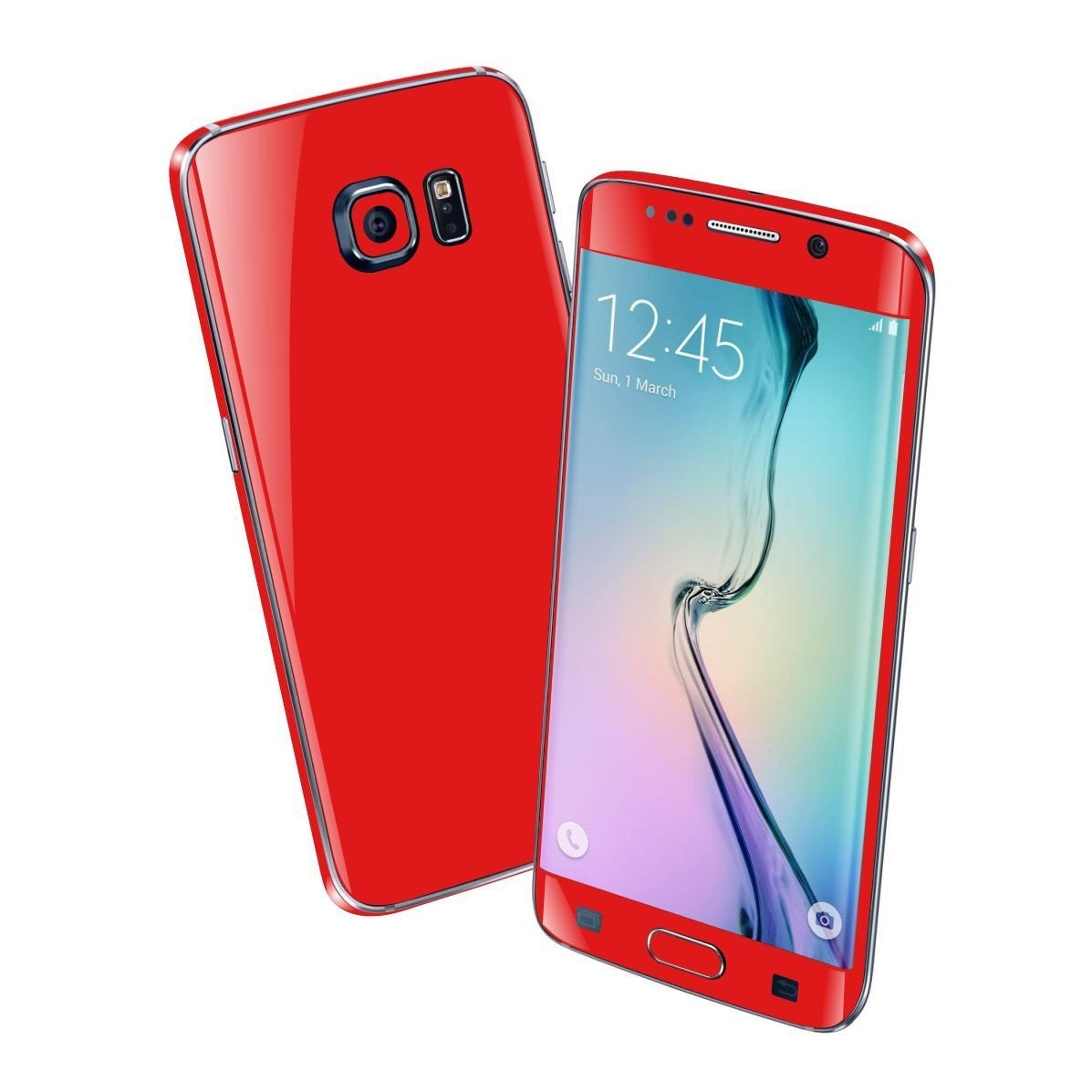 Samsung Galaxy S6 EDGE Colorful GLOSS GLOSSY Bright Red Skin Wrap Sticker Cover Protector Decal by EasySkinz