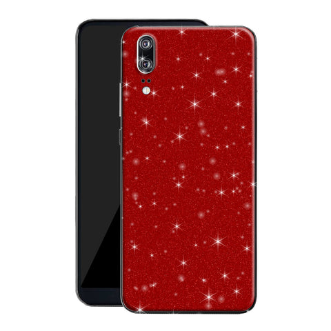 Huawei P20 Diamond Red Shimmering, Sparkling, Glitter Skin, Decal, Wrap, Protector, Cover by EasySkinz | EasySkinz.co