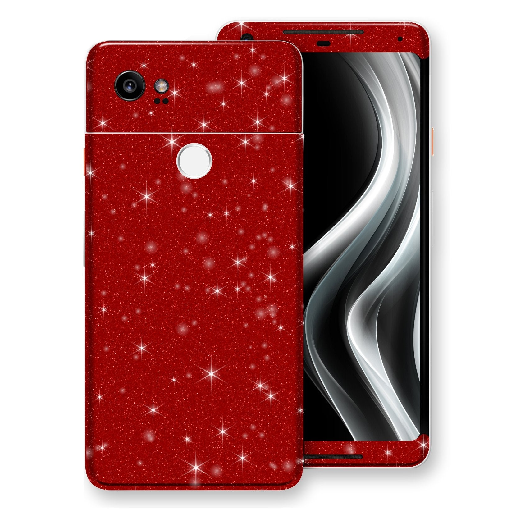 Google Pixel 2 XL Diamond Red Shimmering, Sparkling, Glitter Skin, Decal, Wrap, Protector, Cover by EasySkinz | EasySkinz.com