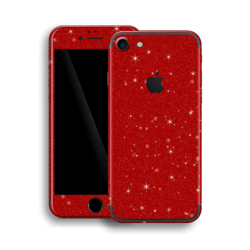 iPhone 7 Diamond RED Shimmering, Sparkling, Glitter Skin, Wrap, Decal, Protector, Cover by EasySkinz | EasySkinz.com