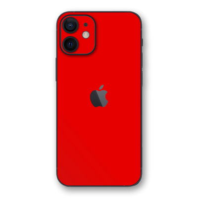 iPhone 12 Red Matt Matte Skin, Wrap, Decal, Protector, Cover by EasySkinz | EasySkinz.com