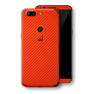OnePlus 5T 3D Textured Red Carbon Fibre Fiber Skin, Decal, Wrap, Protector, Cover by EasySkinz | EasySkinz.com