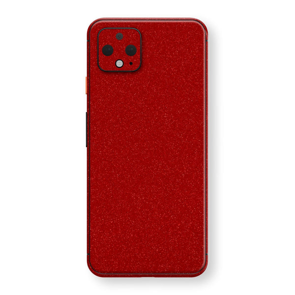 Google Pixel 4 XL Diamond Red Shimmering, Sparkling, Glitter Skin, Decal, Wrap, Protector, Cover by EasySkinz | EasySkinz.com
