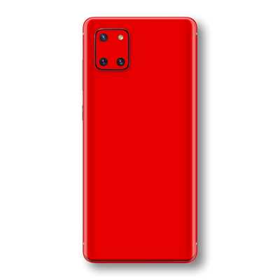 Samsung Galaxy NOTE 10 LITE Bright Red Glossy Gloss Finish Skin Wrap Sticker Decal Cover Protector by EasySkinz