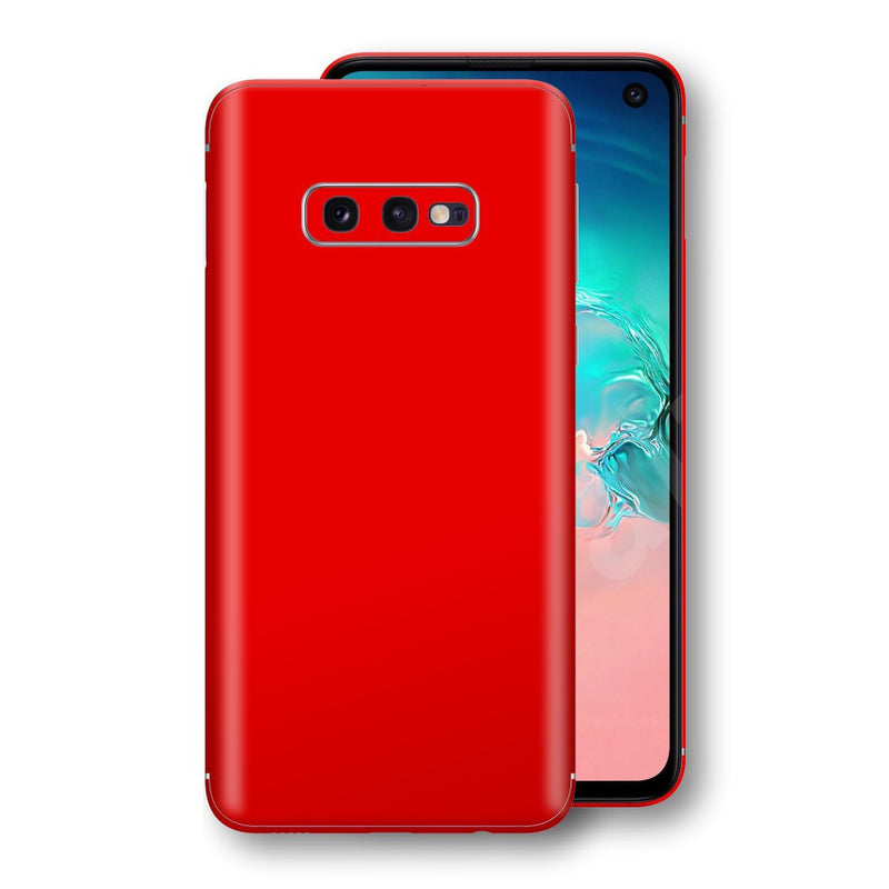 Samsung Galaxy S10e Red Matt Skin, Decal, Wrap, Protector, Cover by EasySkinz | EasySkinz.com