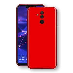 Huawei MATE 20 LITE Bright Red Glossy Gloss Finish Skin, Decal, Wrap, Protector, Cover by EasySkinz | EasySkinz.com