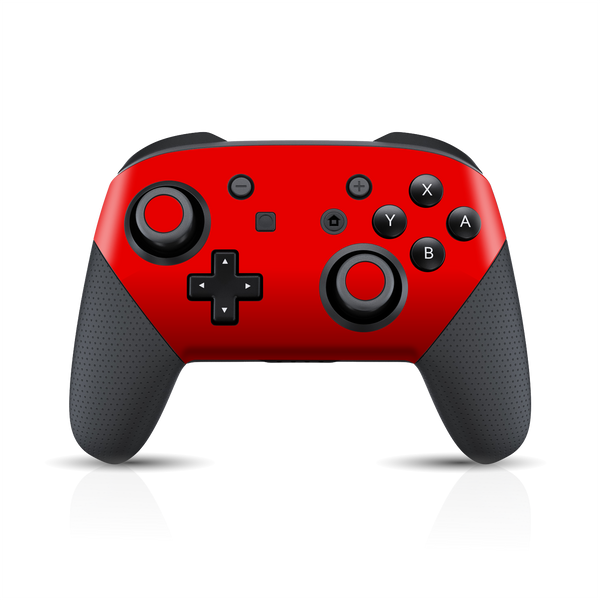 Nintendo Switch Pro CONTROLLER Matt Matte RED Skin Wrap Sticker Decal Cover Protector by EasySkinz