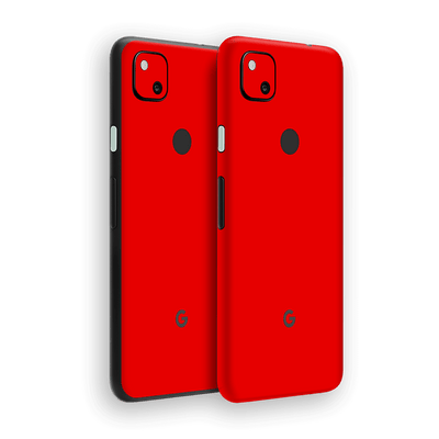 Google Pixel 4a Red Matt Skin Wrap Sticker Decal Cover Protector by EasySkinz