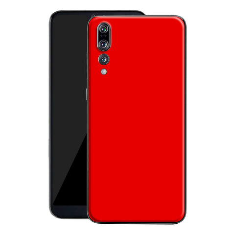 Huawei P20 LITE Bright Red Glossy Gloss Finish Skin, Decal, Wrap, Protector, Cover by EasySkinz | EasySkinz.com