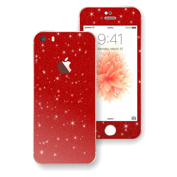 iPhone SE Diamond Red Skin Wrap Decal Sticker Protector Cover by EasySkinz