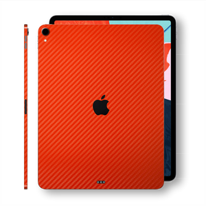 "iPad PRO 12.9"" 3rd Generation 2018 Red 3D Textured CARBON Fibre Fiber Skin Wrap Sticker Decal Cover Protector by EasySkinz"