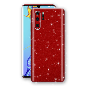 Huawei P30 PRO Diamond Red Shimmering, Sparkling, Glitter Skin, Decal, Wrap, Protector, Cover by EasySkinz | EasySkinz.com