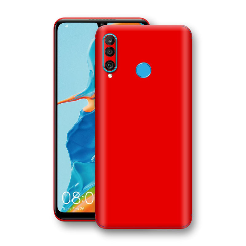Huawei P30 LITE Bright Red Glossy Gloss Finish Skin, Decal, Wrap, Protector, Cover by EasySkinz | EasySkinz.com