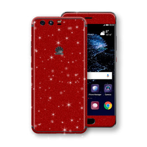 Huawei P10+ PLUS  Diamond Red Shimmering, Sparkling, Glitter Skin, Decal, Wrap, Protector, Cover by EasySkinz | EasySkinz.com