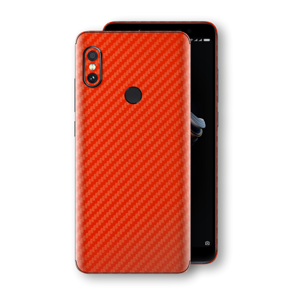 XIAOMI Redmi NOTE 5 3D Textured Red Carbon Fibre Fiber Skin, Decal, Wrap, Protector, Cover by EasySkinz | EasySkinz.com
