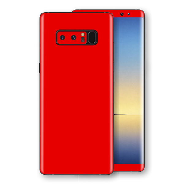 Samsung Galaxy NOTE 8 Bright Red Glossy Gloss Finish Skin, Decal, Wrap, Protector, Cover by EasySkinz | EasySkinz.com