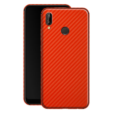 Huawei P20 LITE 3D Textured Red Carbon Fibre Fiber Skin, Decal, Wrap, Protector, Cover by EasySkinz | EasySkinz.com