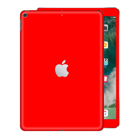 iPad 9.7  inch 2017 Glossy Bright RED Skin Wrap Sticker Decal Cover Protector by EasySkinz