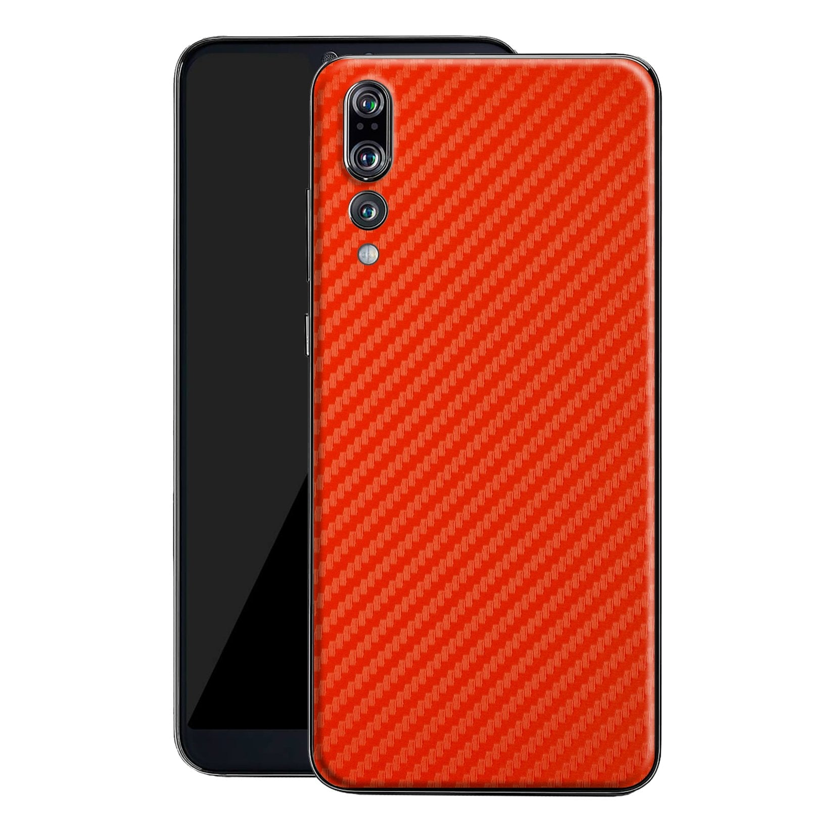 Huawei P20 PRO 3D Textured Red Carbon Fibre Fiber Skin, Decal, Wrap, Protector, Cover by EasySkinz | EasySkinz.com