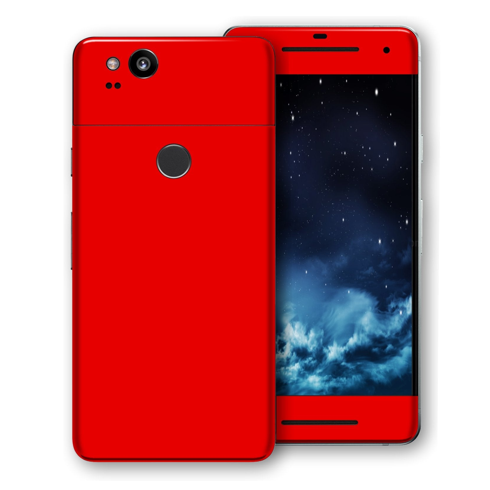 Google Pixel 2 XL Bright Red Glossy Gloss Finish Skin, Decal, Wrap, Protector, Cover by EasySkinz | EasySkinz.com