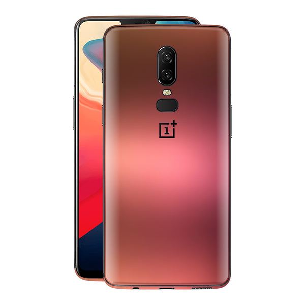 OnePlus 6 Chameleon Aubergine Bronze Skin Wrap Decal Cover by EasySkinz