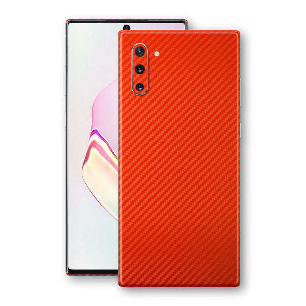 Samsung Galaxy NOTE 10 3D Textured Red Carbon Fibre Fiber Skin, Decal, Wrap, Protector, Cover by EasySkinz | EasySkinz.com