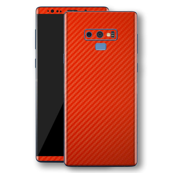 Samsung Galaxy NOTE 9 3D Textured Red Carbon Fibre Fiber Skin, Decal, Wrap, Protector, Cover by EasySkinz | EasySkinz.com