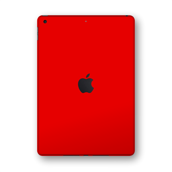 "iPad 10.2"" (7th Gen, 2019) Glossy Bright Red Skin Wrap Sticker Decal Cover Protector by EasySkinz"