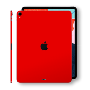 iPad PRO 12.9 inch 3rd Generation 2018 Matt Matte RED Skin Wrap Sticker Decal Cover Protector by EasySkinz