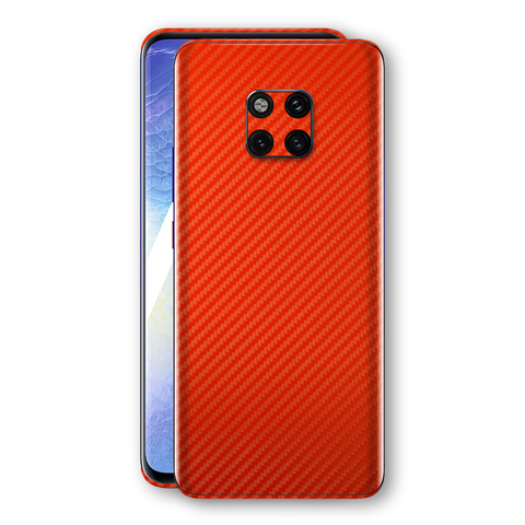 Huawei MATE 20 PRO 3D Textured Red Carbon Fibre Fiber Skin, Decal, Wrap, Protector, Cover by EasySkinz | EasySkinz.com