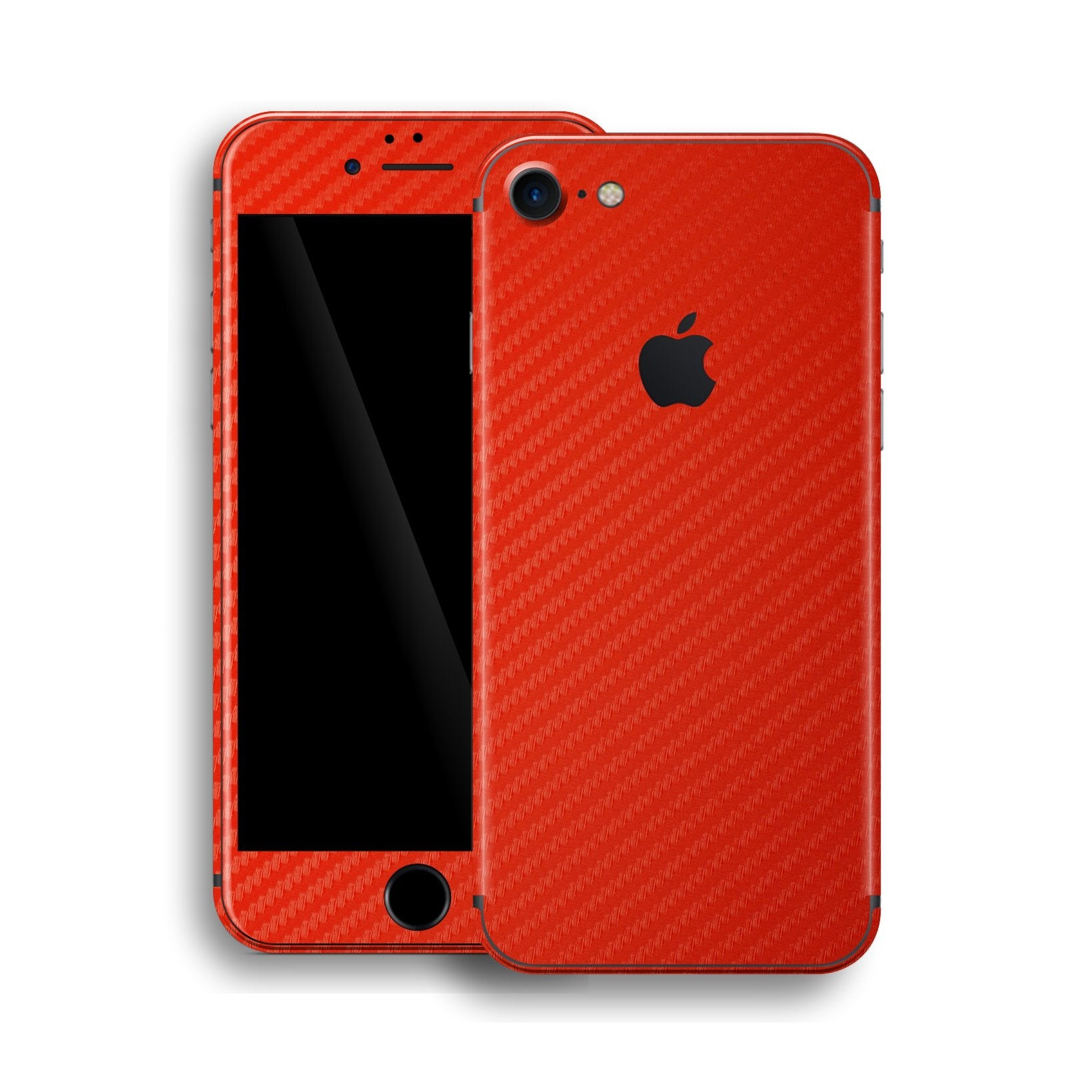 iPhone 8 Red 3D Textured CARBON Fibre Fiber Skin, Wrap, Decal, Protector, Cover by EasySkinz | EasySkinz.com