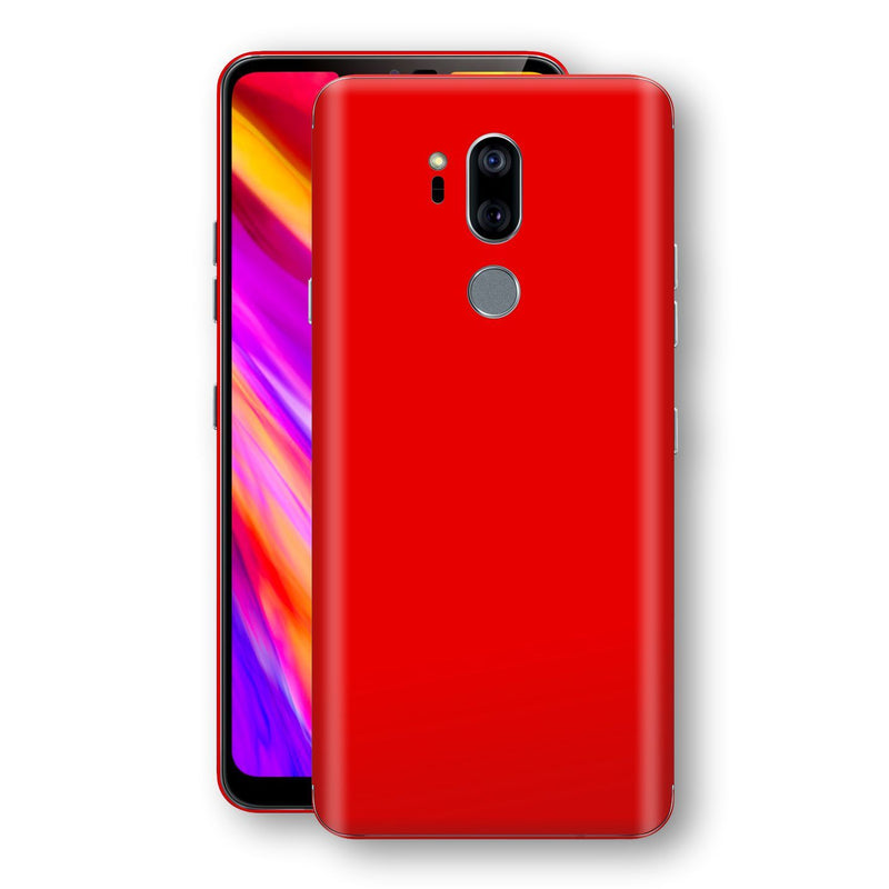 LG G7 ThinQ Bright Red Glossy Gloss Finish Skin, Decal, Wrap, Protector, Cover by EasySkinz | EasySkinz.com
