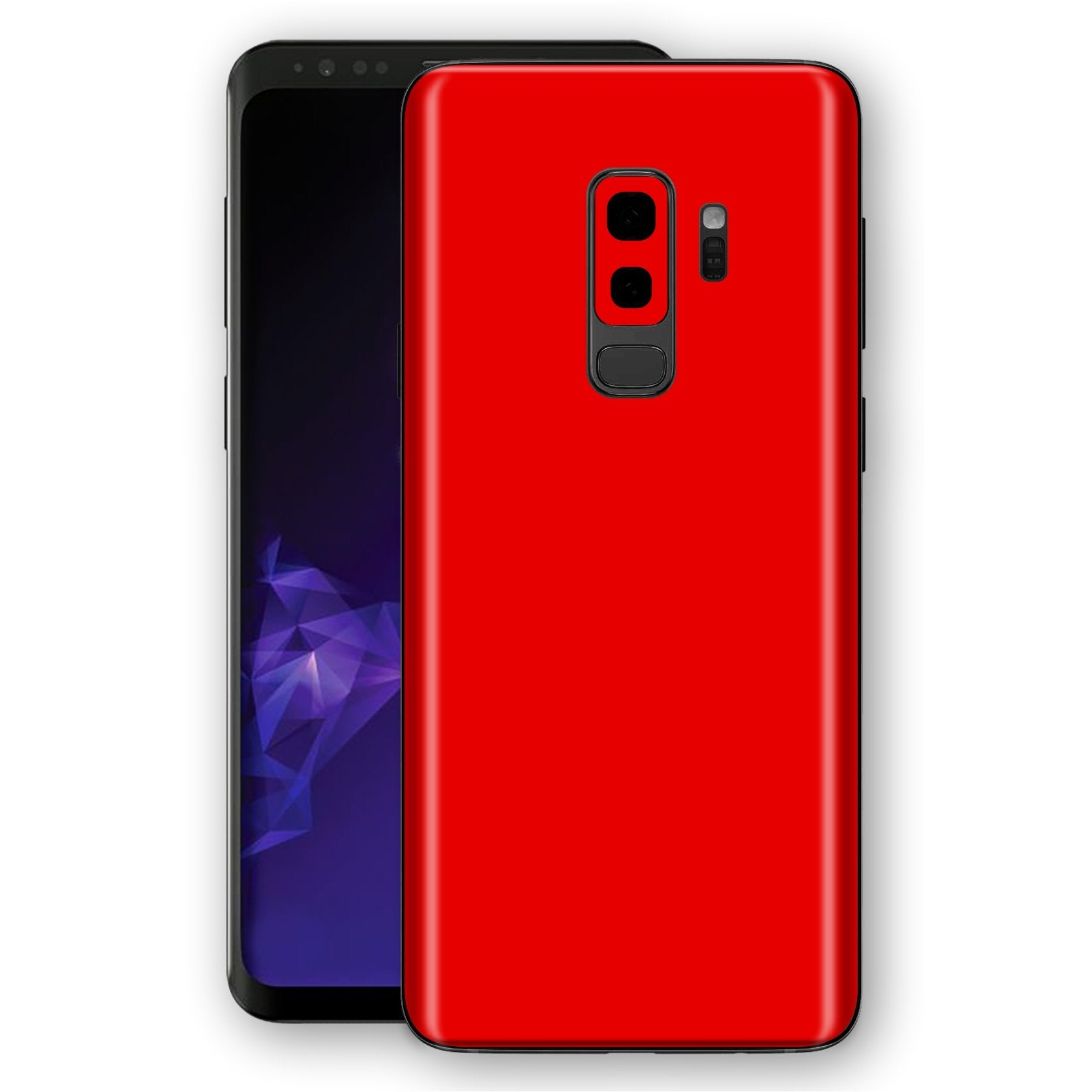 Samsung GALAXY S9+ PLUS Bright Red Glossy Gloss Finish Skin, Decal, Wrap, Protector, Cover by EasySkinz | EasySkinz.com