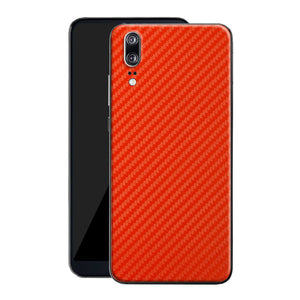 Huawei P20 3D Textured Red Carbon Fibre Fiber Skin, Decal, Wrap, Protector, Cover by EasySkinz | EasySkinz.co