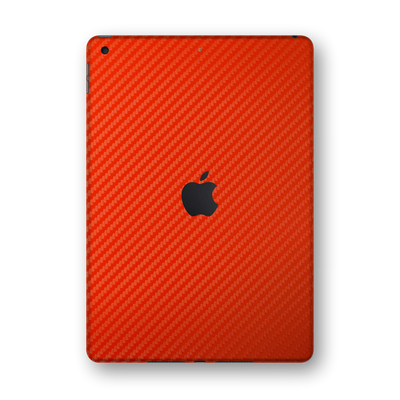 "iPad 10.2""  8th Generation 2020 Red 3D Textured CARBON Fibre Fiber Skin Wrap Sticker Decal Cover Protector by EasySkinz"