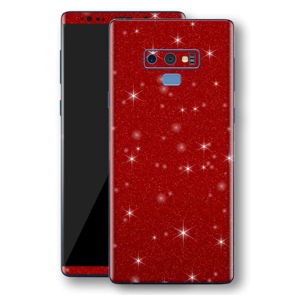Samsung Galaxy NOTE 9 Diamond Red Shimmering, Sparkling, Glitter Skin, Decal, Wrap, Protector, Cover by EasySkinz | EasySkinz.com