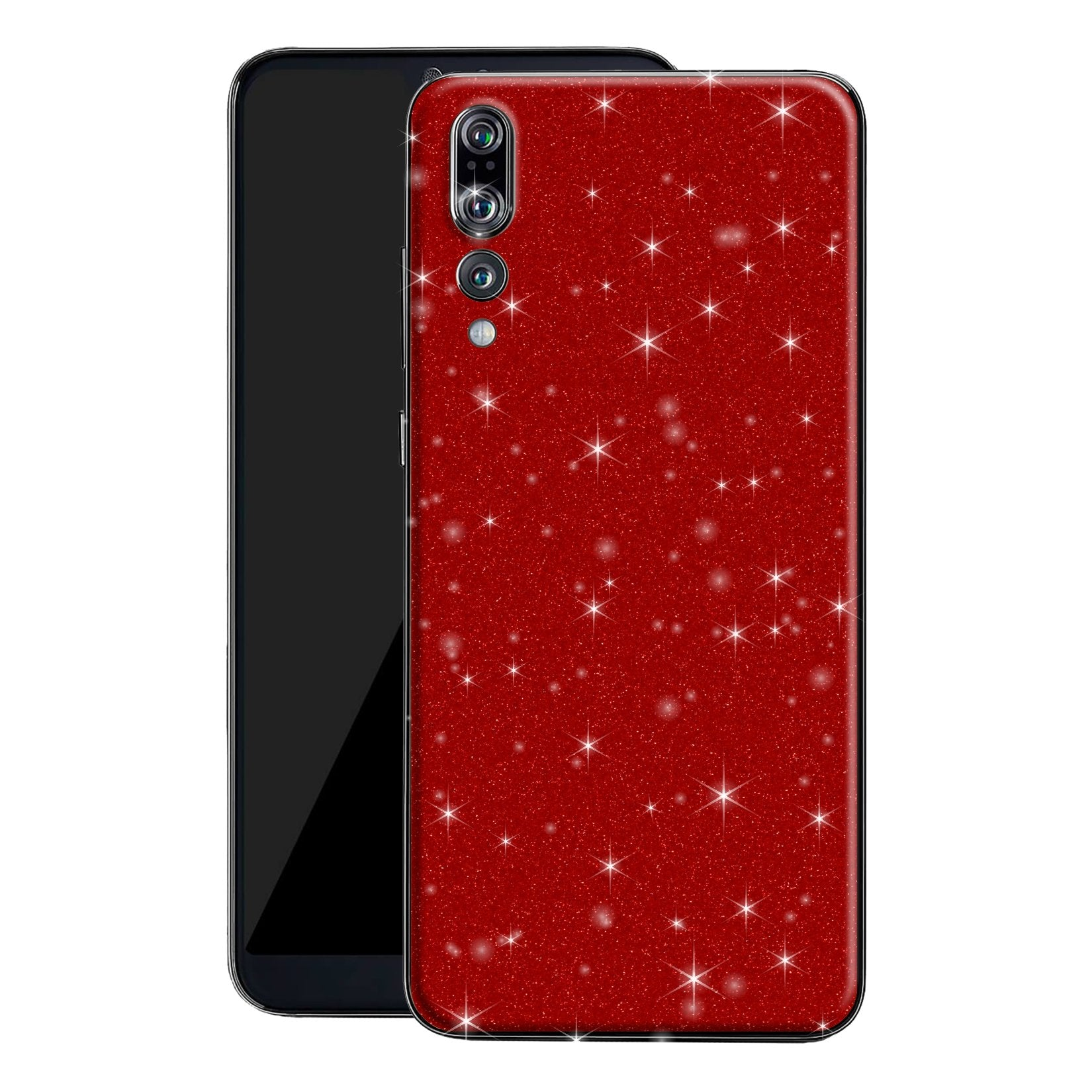 Huawei P20 PRO Diamond Red Shimmering, Sparkling, Glitter Skin, Decal, Wrap, Protector, Cover by EasySkinz | EasySkinz.com