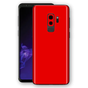 Samsung GALAXY S9+ PLUS RED MATT Skin, Decal, Wrap, Protector, Cover by EasySkinz | EasySkinz.com