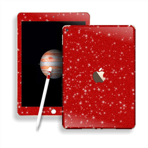 iPad PRO Diamond RED Glitter Shimmering Skin Wrap Sticker Decal Cover Protector by EasySkinz
