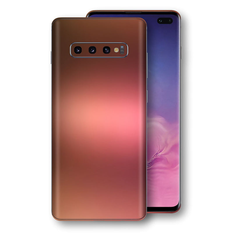 Samsung Galaxy S10+ PLUS Chameleon Aubergine Bronze Skin Wrap Decal Cover by EasySkinz