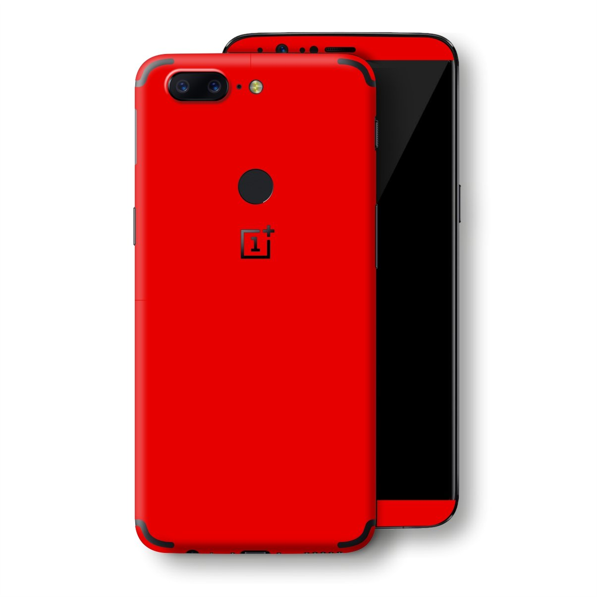 OnePlus 5T Bright Red Glossy Gloss Finish Skin, Decal, Wrap, Protector, Cover by EasySkinz | EasySkinz.com