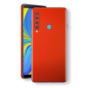 Samsung Galaxy A9 (2018) 3D Textured Red Carbon Fibre Fiber Skin, Decal, Wrap, Protector, Cover by EasySkinz | EasySkinz.com