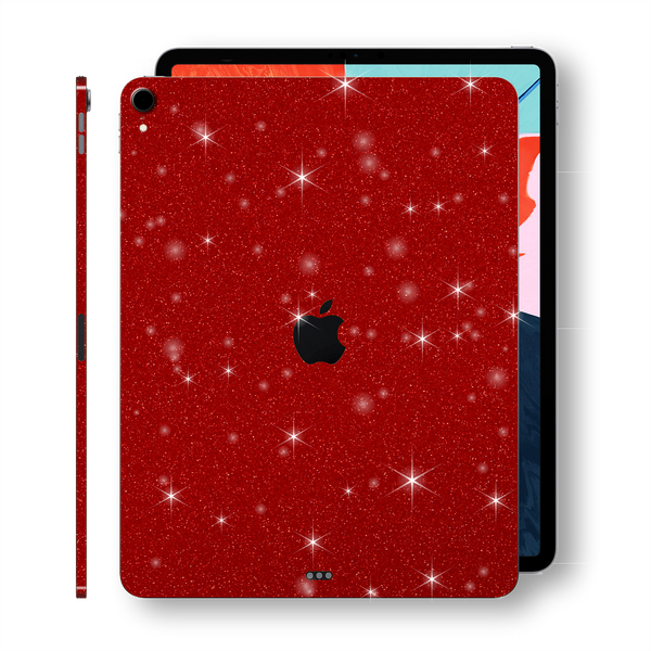 "iPad PRO 11"" inch 2018 Diamond RED Glitter Shimmering Skin Wrap Sticker Decal Cover Protector by EasySkinz"