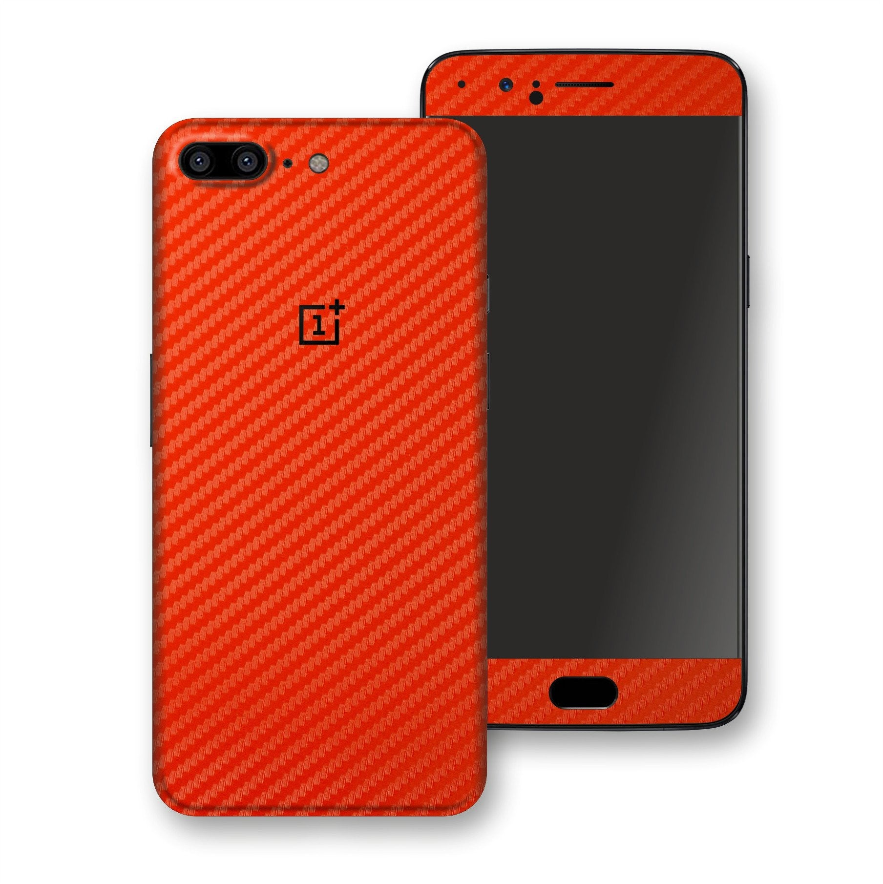 OnePlus 5 3D Textured Red Carbon Fibre Fiber Skin, Decal, Wrap, Protector, Cover by EasySkinz | EasySkinz.com