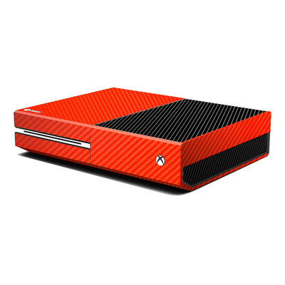 Xbox One Console Red 3D Textured CARBON Fibre Fiber Skin Wrap Sticker Decal Protector Cover by EasySkinz