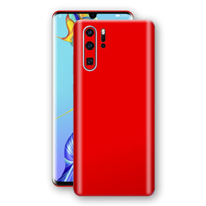 Huawei P30 PRO Bright Red Glossy Gloss Finish Skin, Decal, Wrap, Protector, Cover by EasySkinz | EasySkinz.com