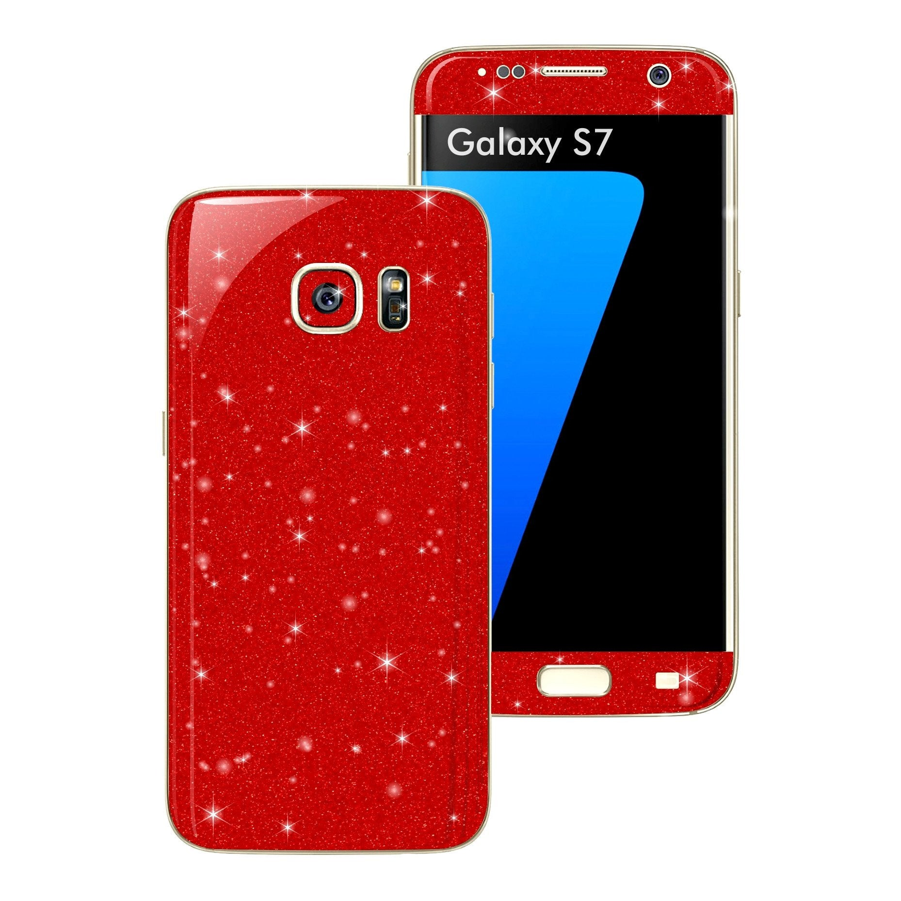Samsung Galaxy S7 DIAMOND RED Skin Wrap Decal Sticker Cover Protector by EasySkinz