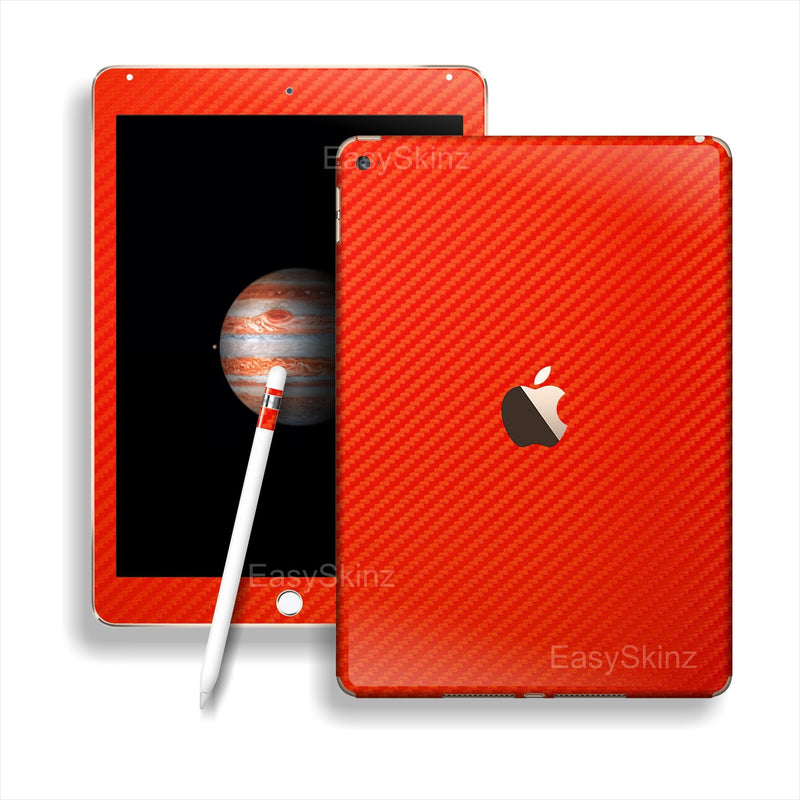 iPad PRO 3D Textured RED CARBON Fibre Fiber Skin Wrap Sticker Decal Cover Protector by EasySkinz