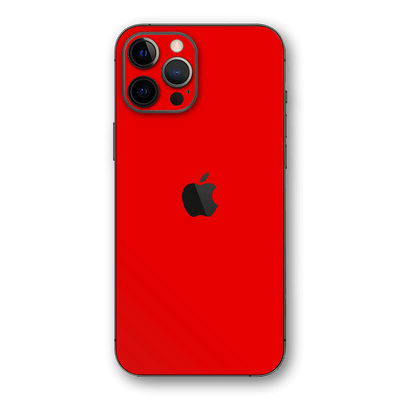 iPhone 12 Pro MAX Red Matt Matte Skin, Wrap, Decal, Protector, Cover by EasySkinz | EasySkinz.com