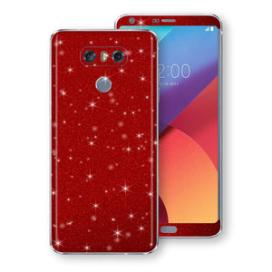 LG G6 Diamond Red Shimmering, Sparkling, Glitter Skin, Decal, Wrap, Protector, Cover by EasySkinz | EasySkinz.com